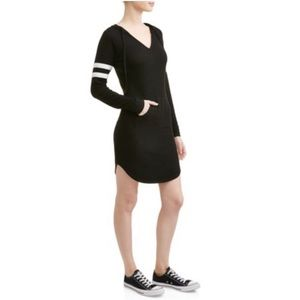 No Boundaries Black Hoodie Knit Dress M (7/9)